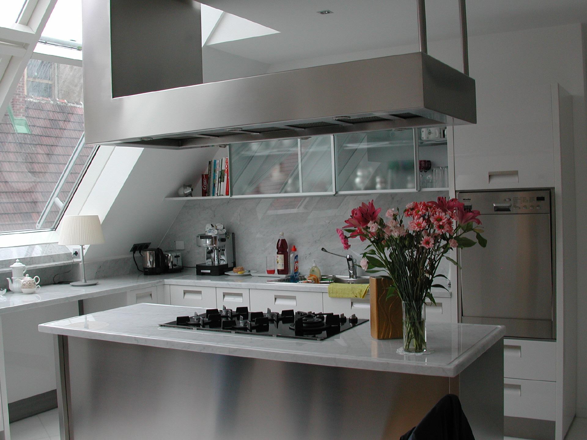 edelstahl k chen. Black Bedroom Furniture Sets. Home Design Ideas